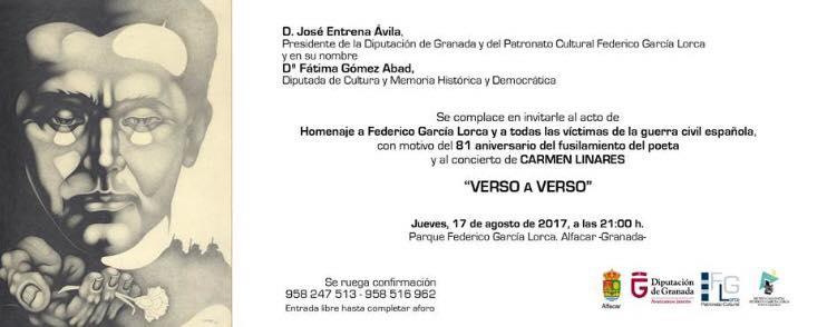 Homenaje a Lorca por el 81 aniversario 2017